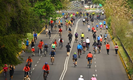 CicloRecreoVia in Santiago.