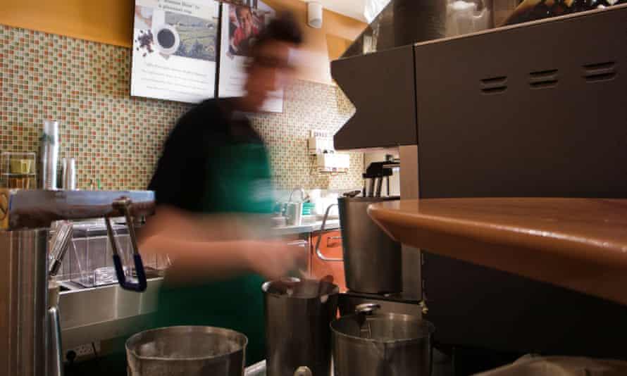 Barista in Starbucks