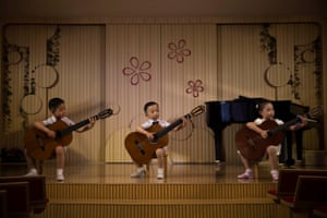 Long-term projects, third prize, stories - David Guttenfelder - Life in the cult of Kim: North Korean children perform at the Pyongyang Kyongsang kindergarten