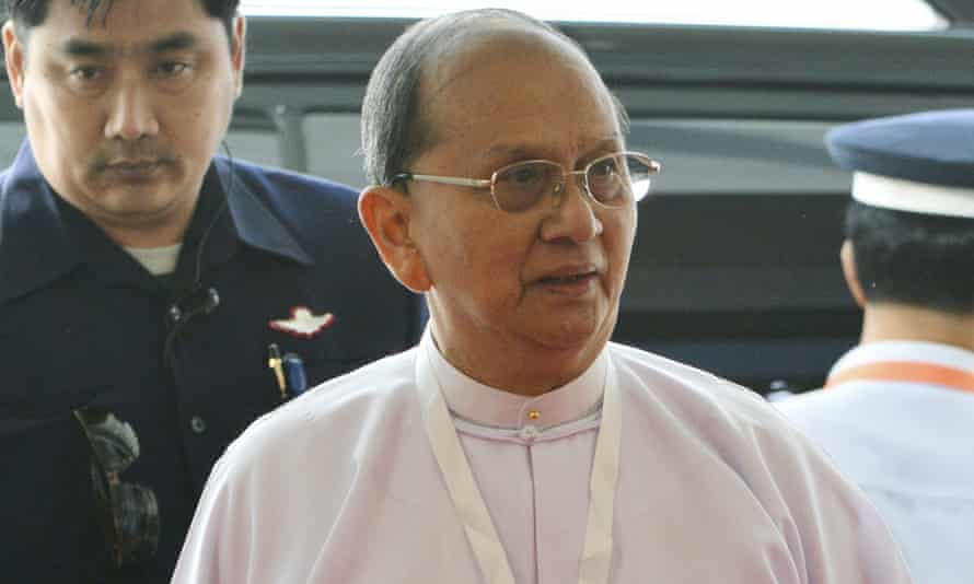 Thein Sein seen in January, before shedding his formal attire.