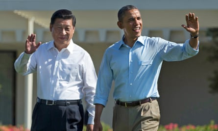Xi Jinping and Barack Obama at the Annenberg retreat in California, 2013.