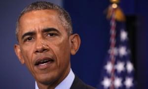 President Obama making a statement.