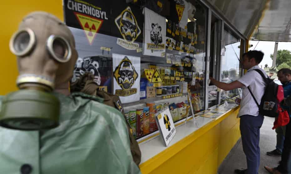 'No one would sell fridge magnets at Auschwitz': the souvenir stand on the edge of The Zone near Chernobyl.