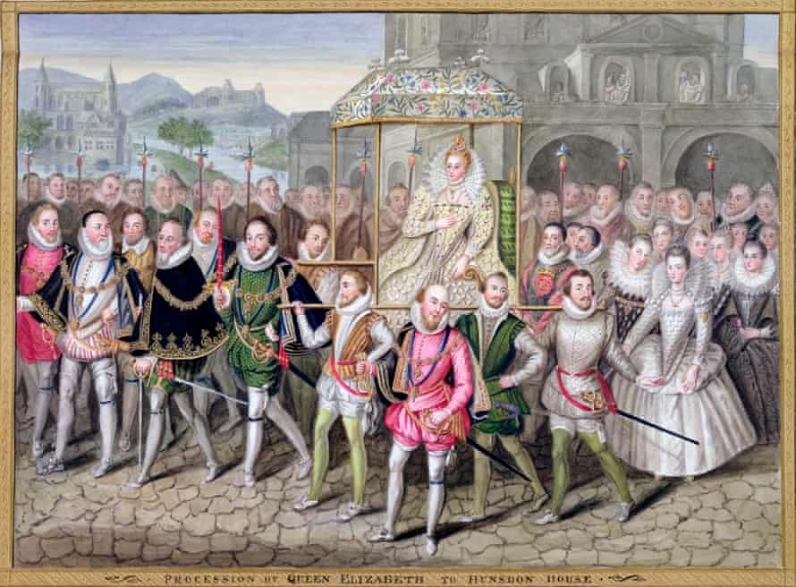 Royal display: Elizabeth I and her retinue c1600-03 in a painting attributed to Robert Peake