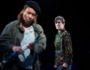 Magnetic … Martina Laird and Harriet Walter in Julius Caesar.