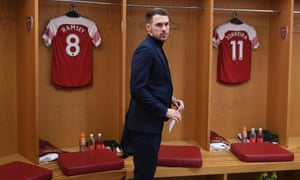 Ramsey prepares for today's big game at the Emirates.