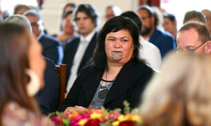 New Zealand's foreign minister, Nanaia Mahuta, looks on during a swearing-in ceremony at Government House on November 06, 2020 in Wellington, New Zealand.