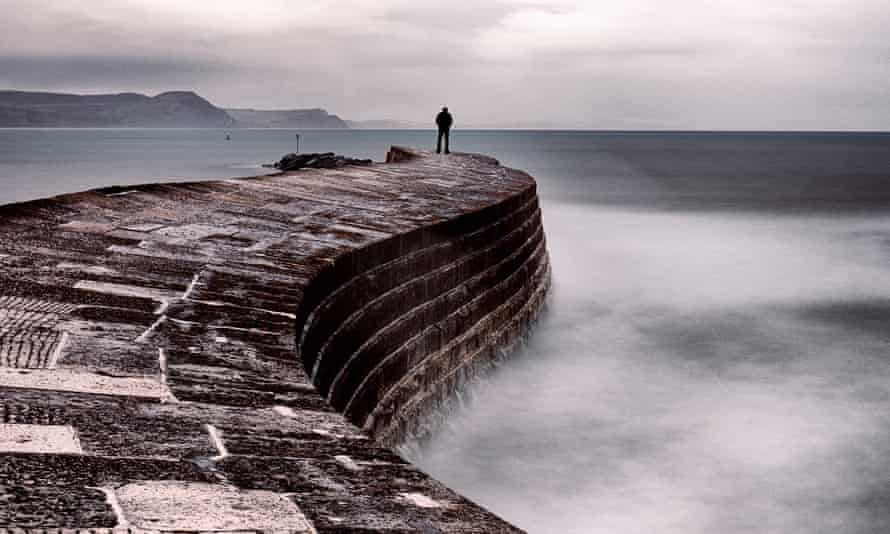 The Cobb, harbour wall in Lyme Regis, Dorset.