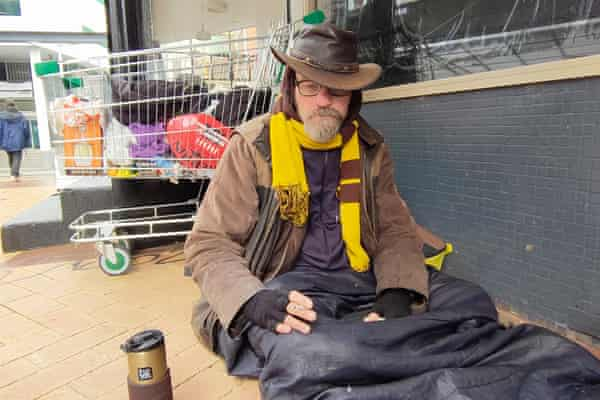 Tex, who slept near the Royal Hobart Hospital in case he had another epileptic seizure or major cardiac event, says he has not voted since the 1980s