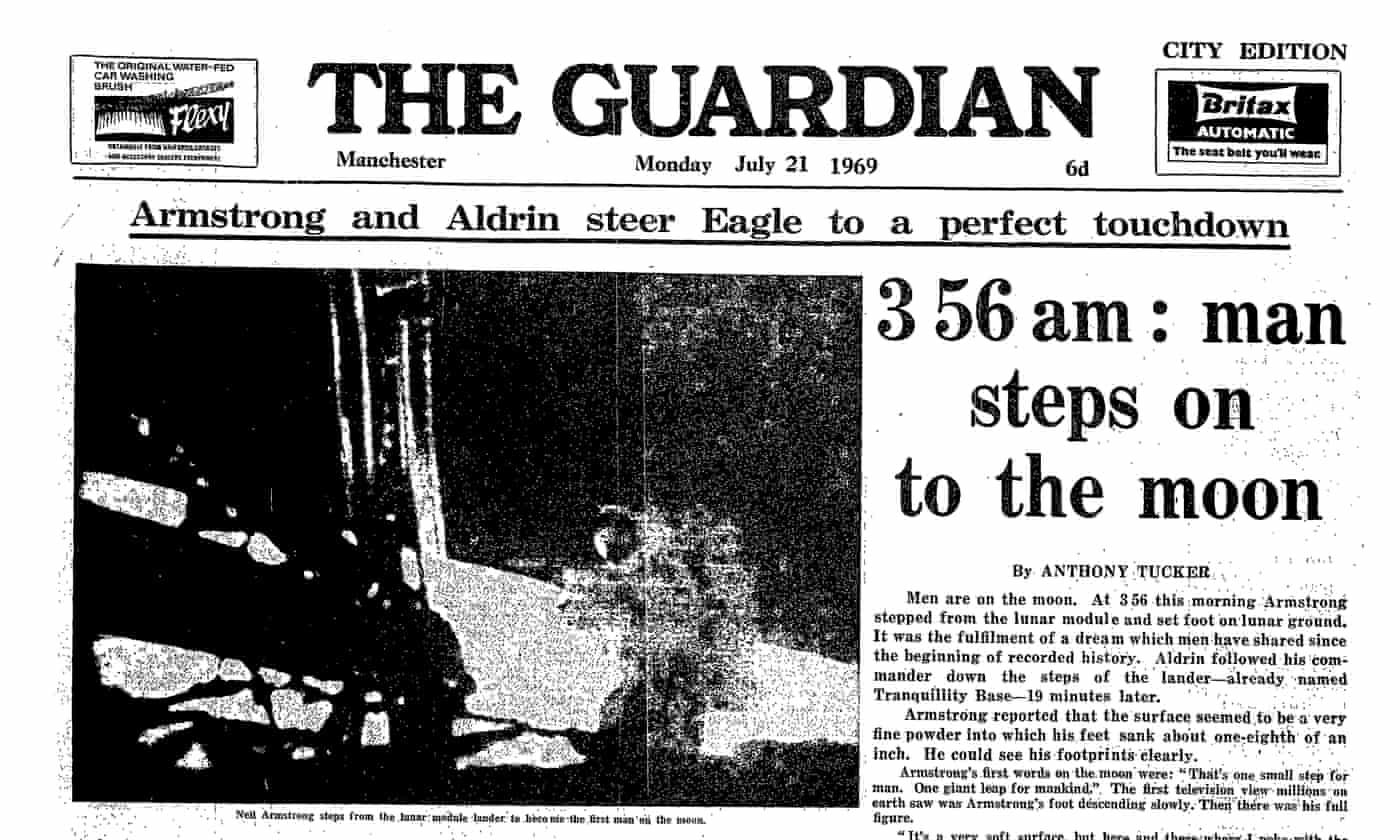 Man walks on the moon: 21 July 1969