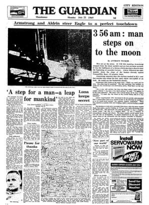 21 July 1969 Guardian front page