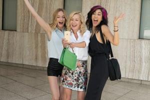 Heather Graham, Angela Kinsey and Stephanie Beatriz in Half-Magic.