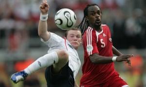 Brent Sancho keeps an eye on Wayne Rooney in 2006.