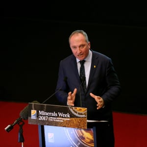 Barnaby Joyce at the Minerals Council of Australia's minerals week seminar in the theatre of Parliament House on Wednesday morning.