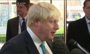Boris Johnson responding to Michel Barnier.