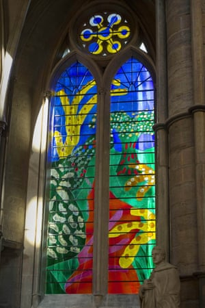 The Queen's Window, designed by David Hockney and created by Barley studio in York.