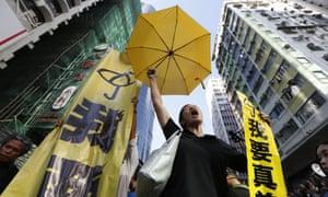 Umbrella movement protesters