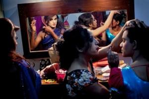 Hijras get ready backstage