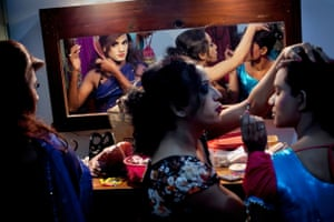 Hijras get ready backstage