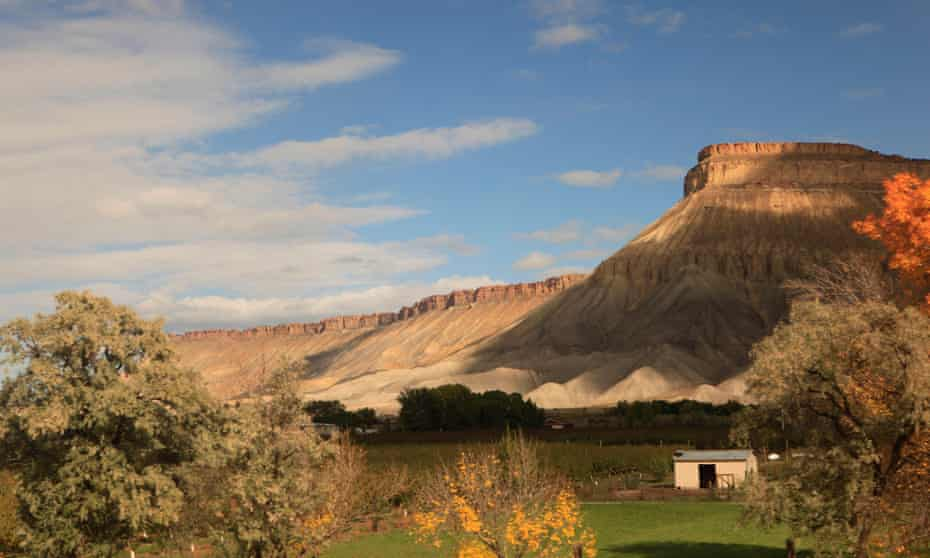 View from the window of the California Zephyr near Grand Junction, Colorado