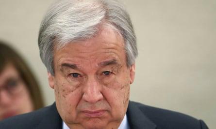 The UN secretary general, Antonio Guterres