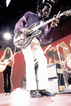 Chuck Berry performs on Soul Train in the 1970s.