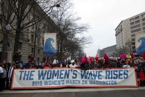 Demonstrators on Pennsylvania Avenue