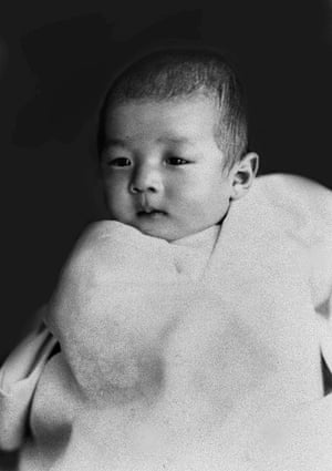 Akihito is pictured as a baby in Tokyo, Japan, March 1934