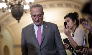 "Chuck Schumer said it was ""galling"" for McConnell to blame Democrats for playing partisan games when he has done ""more than maybe anyone to politicize the supreme court nomination process""."