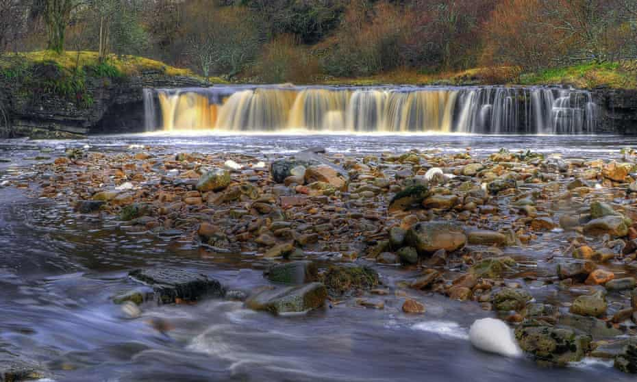 Wainwath Force in Swaledale in the Yorkshire Dales National Park