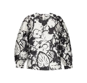 Botanical print silk blouse £230 essentiel-antwerp.com