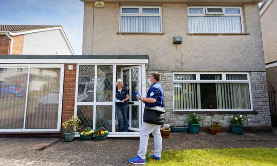 Conservative party candidate Matt Smith canvassing in Wenvoe