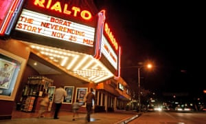 The historic Rialto Theatre taken shortly before it closed.