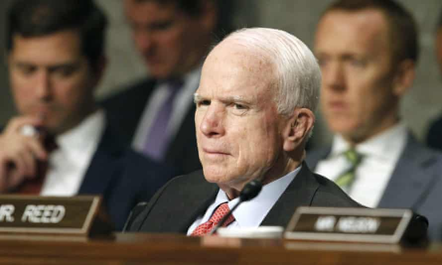 John McCain underwent a 'minimally invasive' procedure on Friday to remove a 5cm clot above his eye.