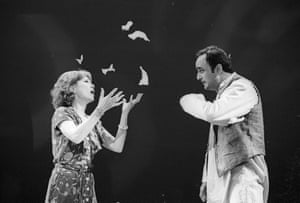 Art Malik with Felicity Kendal in Indian Ink at the Aldwych in 1995