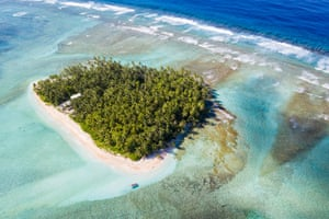 An aerial view of Tuvalu