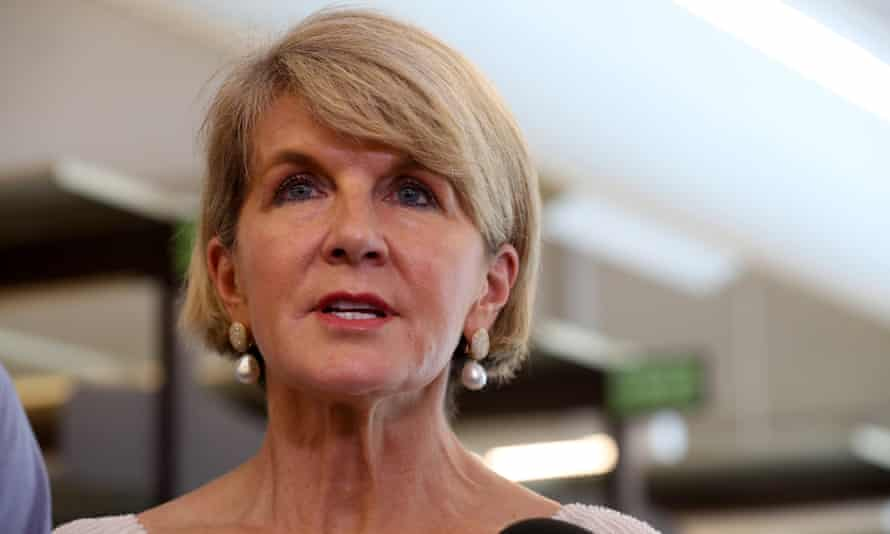 Australia's minister for foreign affairs, Julie Bishop