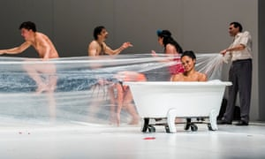 'An exuberant comic fantasy and tropical holiday rolled into one' … Masurca Fogo, by Pina Bausch, danced by Tanztheater Wuppertal, Sadler's Wells, London, 2017.