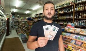 Baris Danisan, owner of Barry's Food & Wine in Hoxton.
