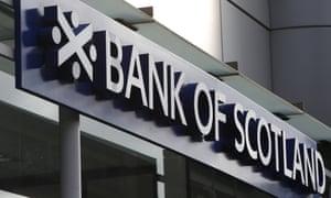 Bank of Scotland sign