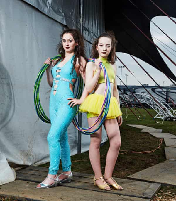 Would be aerialists Rosita and Eva in Circus Kids: Our Secret World.