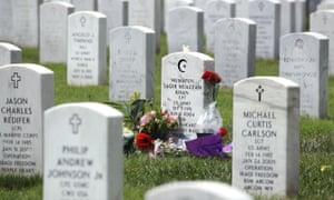 The gravesite of Humayun Khan in Arlington, Virginia.