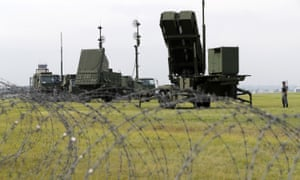 Japanese forces training in August at a base near Tokyo with the Patriot Advanced Capability-3 missiles.