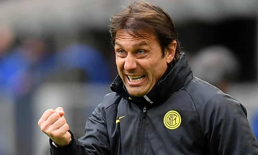 Antonio Conte won Serie A with Internazionale last month and has won the Premier League and FA Cup with Chelsea.