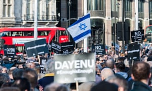 A protest in Parliament Square on Monday against antisemitism in the Labour party.