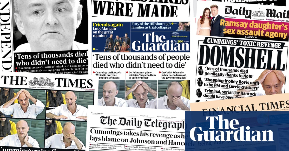 'Domshell': what the papers say about Dominic Cummings' attack on Boris Johnson