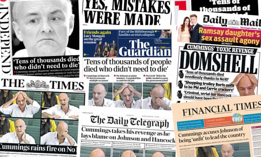 Front pages of the UK papers on Thursday 27 May 2021