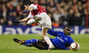 Mario Melchiot helped Chelsea beat Arsenal in the last eight of the 2004 Champions League.