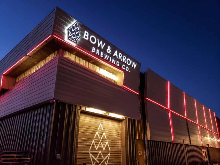 Bow and Arrow's neon facade.