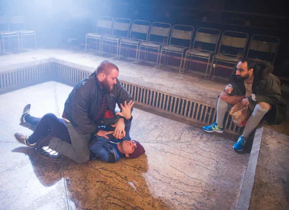 Sean Rigby, Sam Swann and Guy Rhys in Alistair McDowall's Pomona
